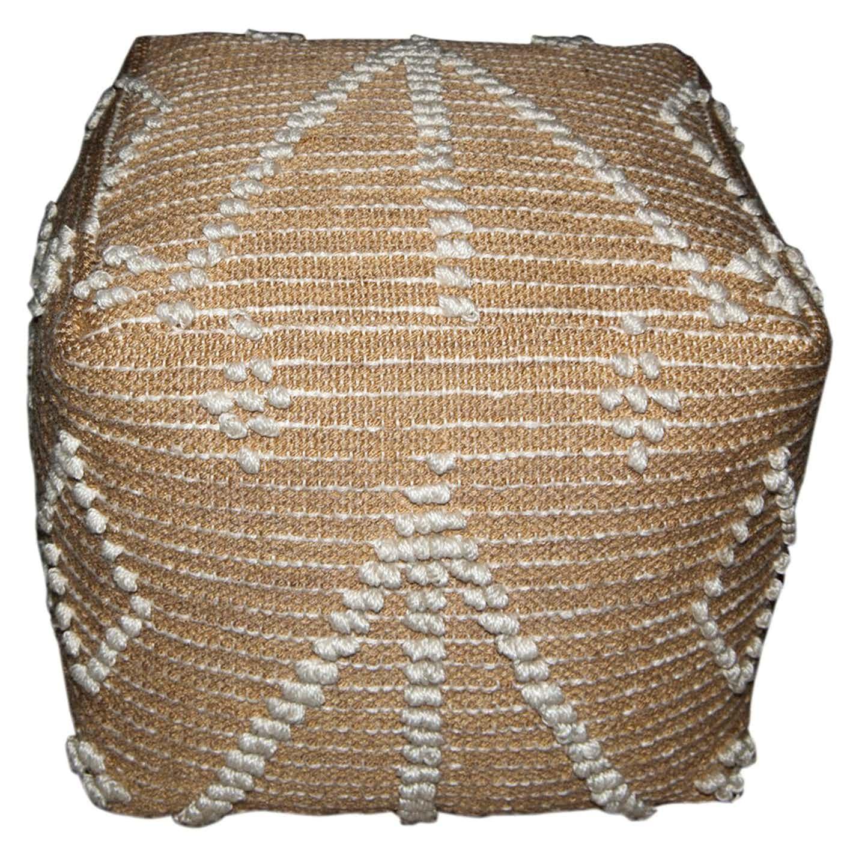 Pufa plecionka okrągła wzór 40x40x40cm