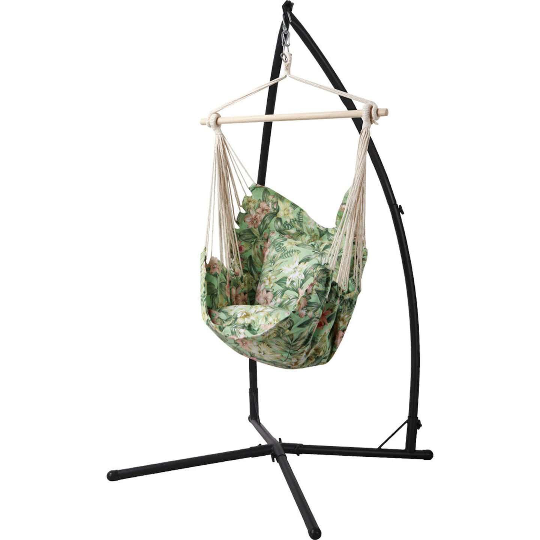 Fotel-hamak Lytton z poduszkami w kwiaty 100 x 135 x 90 cm