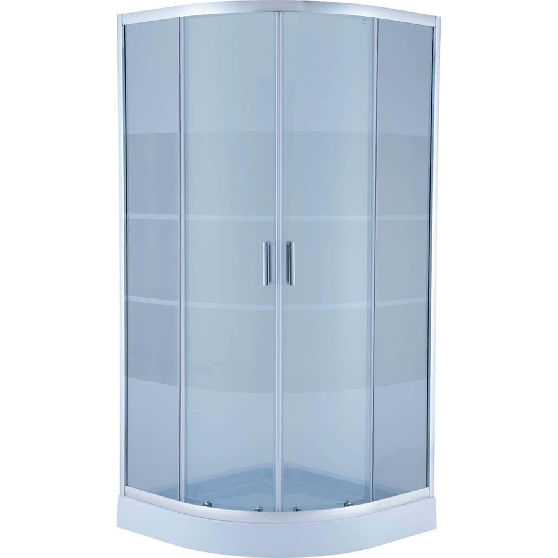 Kabina prysznicowa półokrągła Sheppard z brodzikiem 80 x 80 x 197,5 cm
