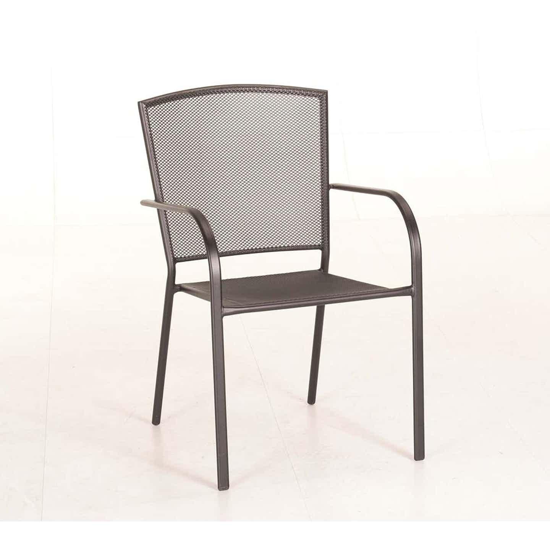 Krzesło Yampai, stalowe z podłokietnikami