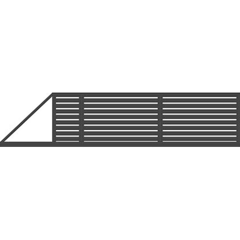 Jarmex Brama Trento przesuwna napęd lewa antracyt 400 cm x 140 cm