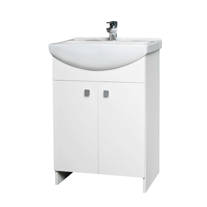 Cersanit Zestaw Rubid 50 cm szafka z umywalką biała