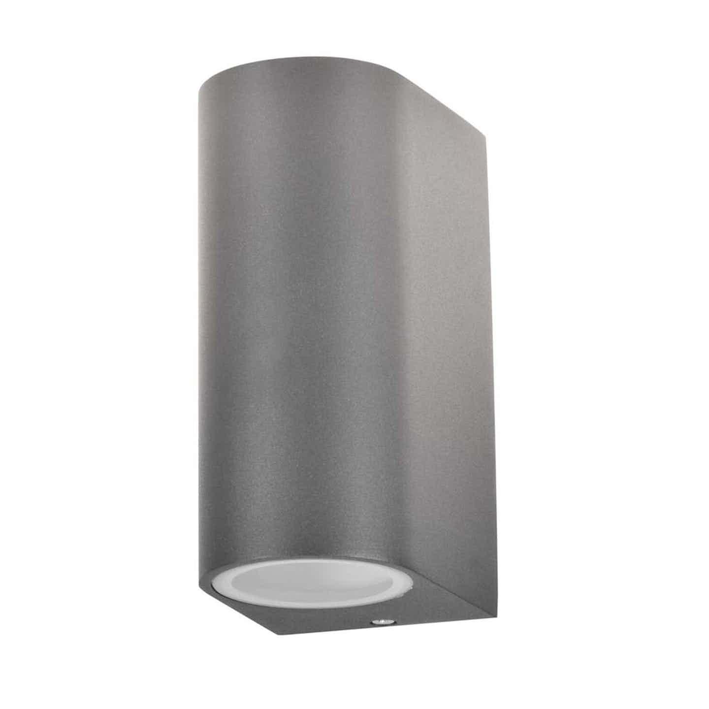 Polux Kinkiet góra/dół BOSTON aluminium okrągły grafit 2x10W GU10