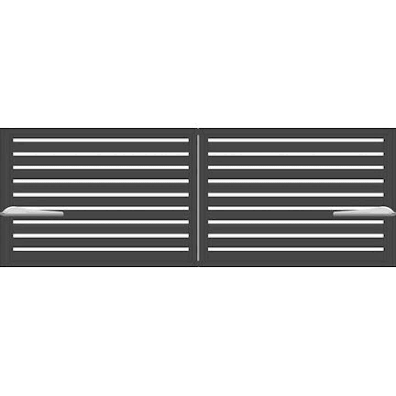 Jarmex Brama Trento dwuskrzydłowa z napędem antracyt 398 cm x 140 cm