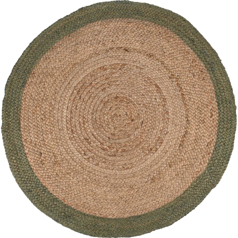 Dywan jutowy okrągły Natural zielony śr. 90cm