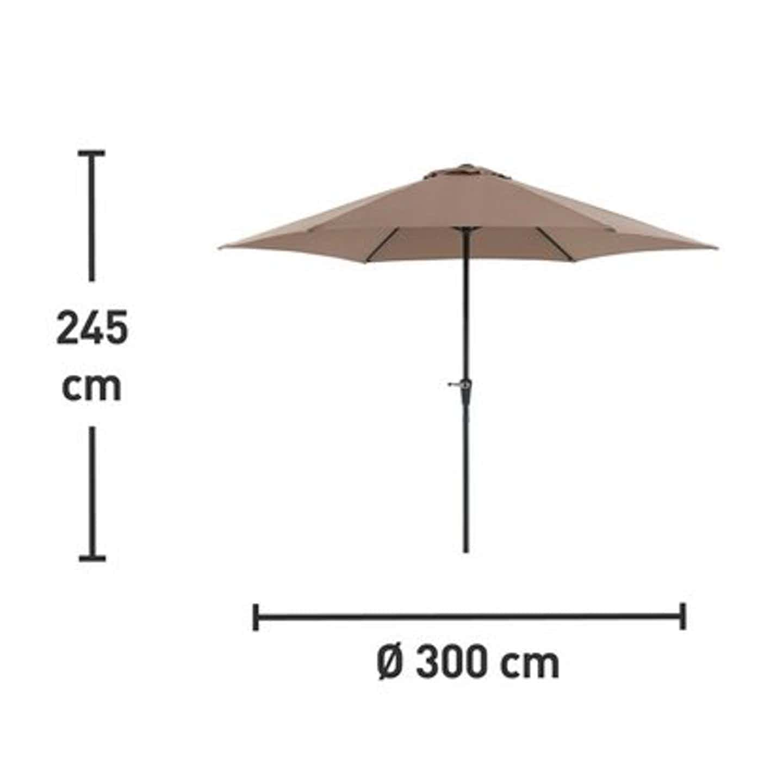 OBI Honolulu parasol śr. 300 cm cappuccino