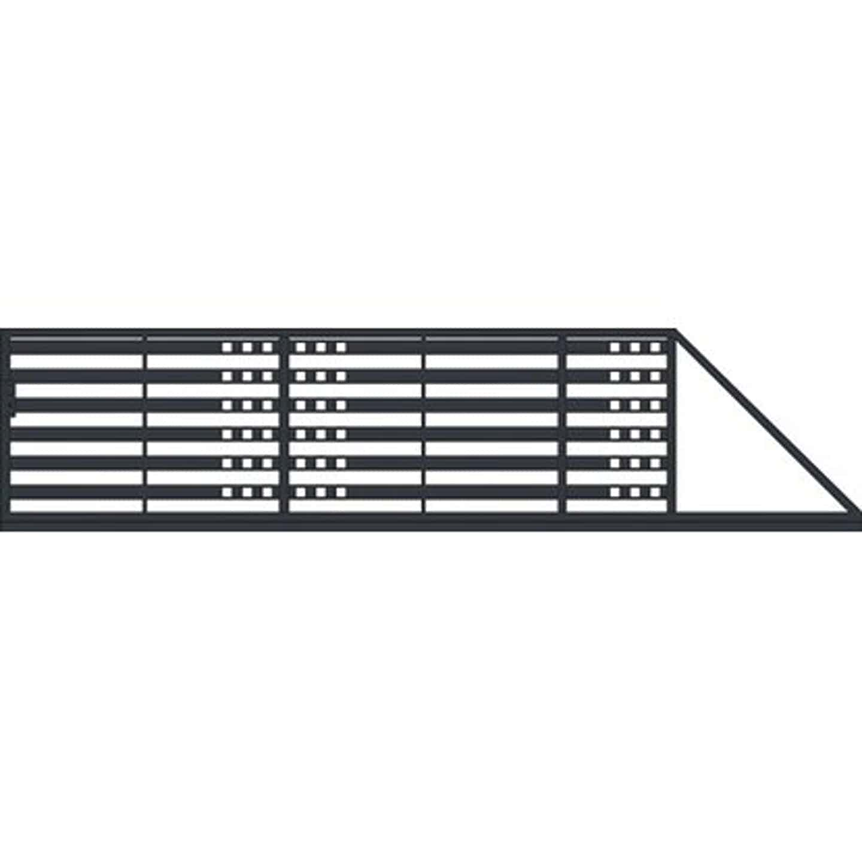 Jarmex Brama Milano II przesuwna prawa antracyt mat 400x140 cm