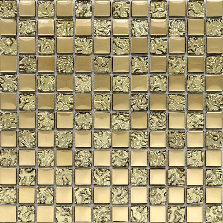 Mozaika szklana CRYSTAL złota mix 30 cm x 30 cm