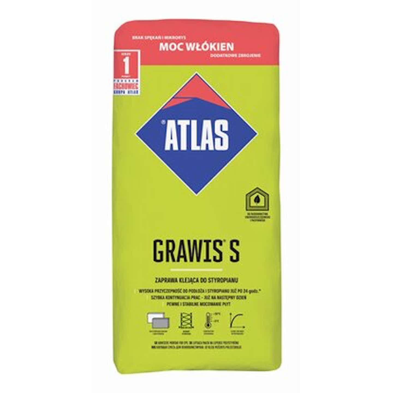 Atlas Zaprawa klejąca do styropianu Grawis S 25 kg