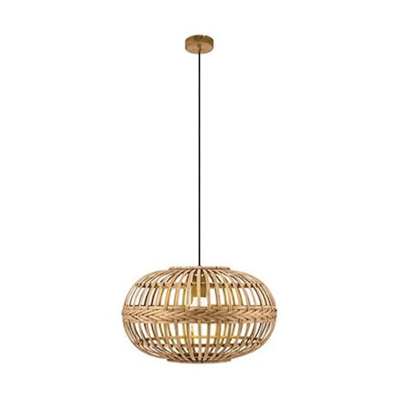Eglo Lampa wisząca AMSFIELD kula jasnobrązowa 1x60W E27