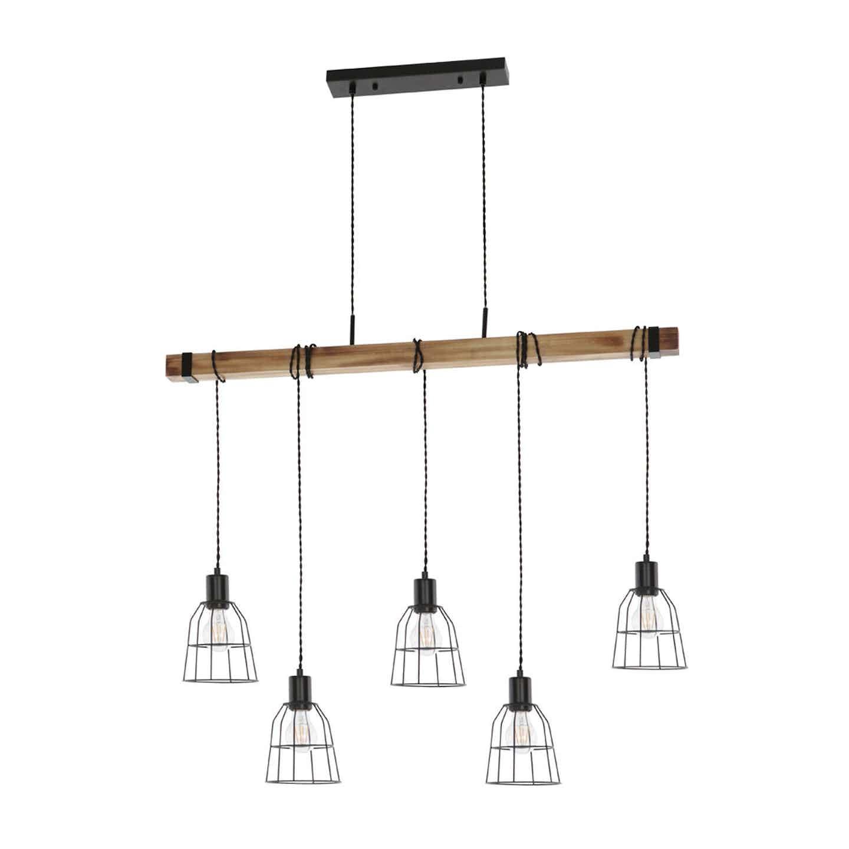 Italux Lampa wisząca PONTE metal 5x60W E27