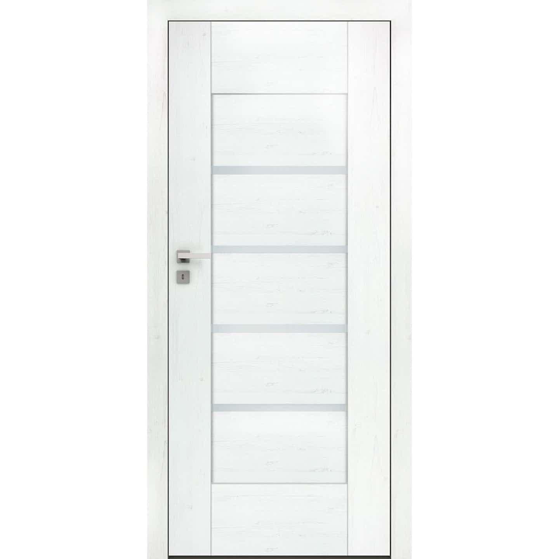 DRE Skrzydło drzwiowe bezprzylgowe Largo 3 Sosna Biała 80P