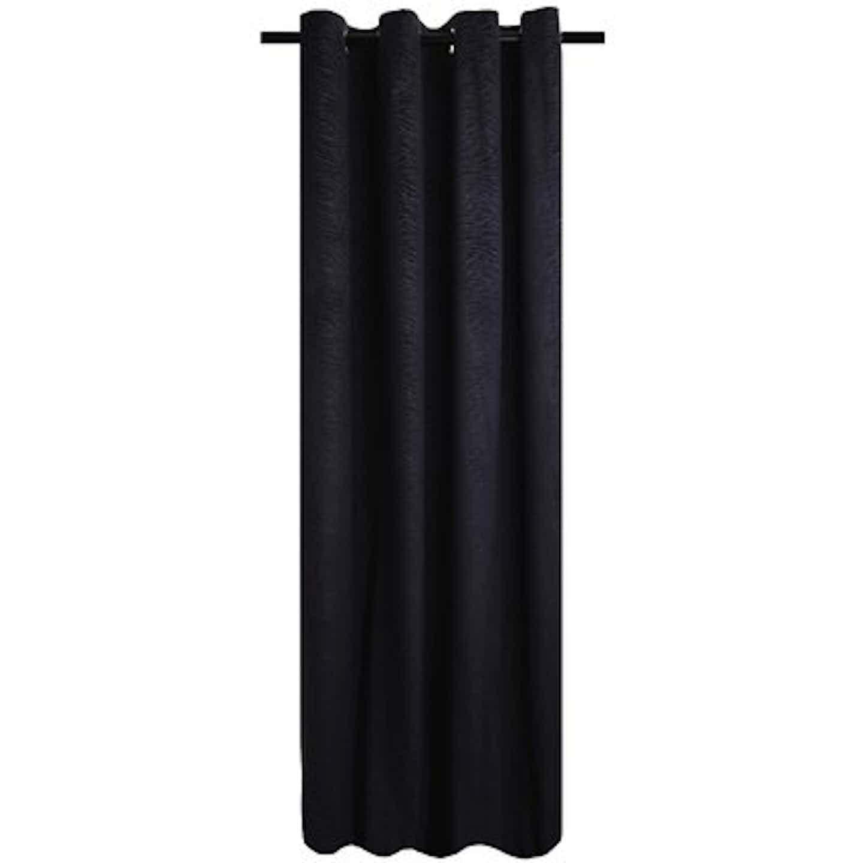Zasłona PERFECT CHIC czarna 140 cm x 270 cm
