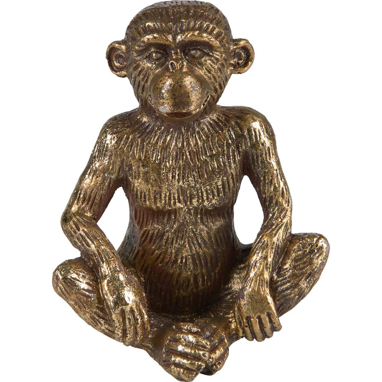 Dekoracja Małpka złota wys. 14cm