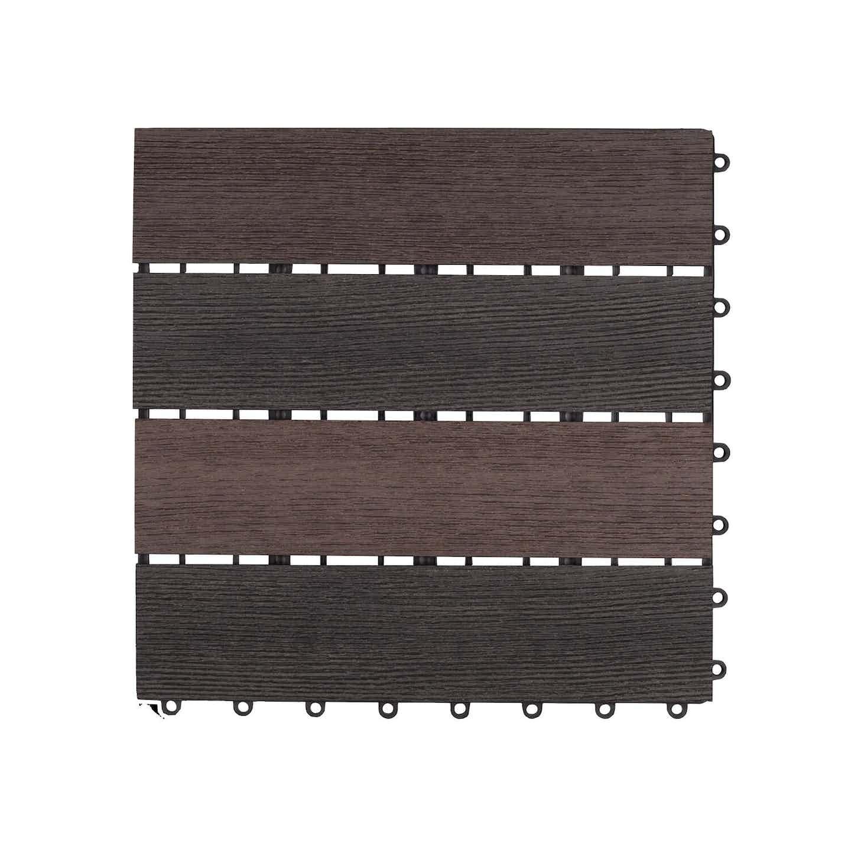 Dlh Podest tarasowy kompozytowy struktura drewna brąz 30 cm x 30 cm x 2,1 cm