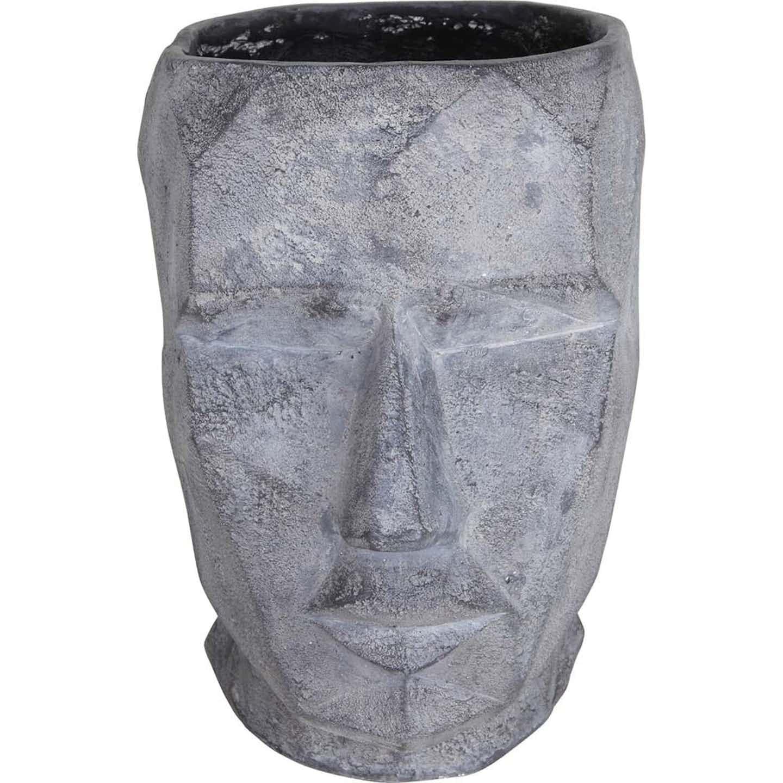 Donica Głowa, szara, 31x24x34cm