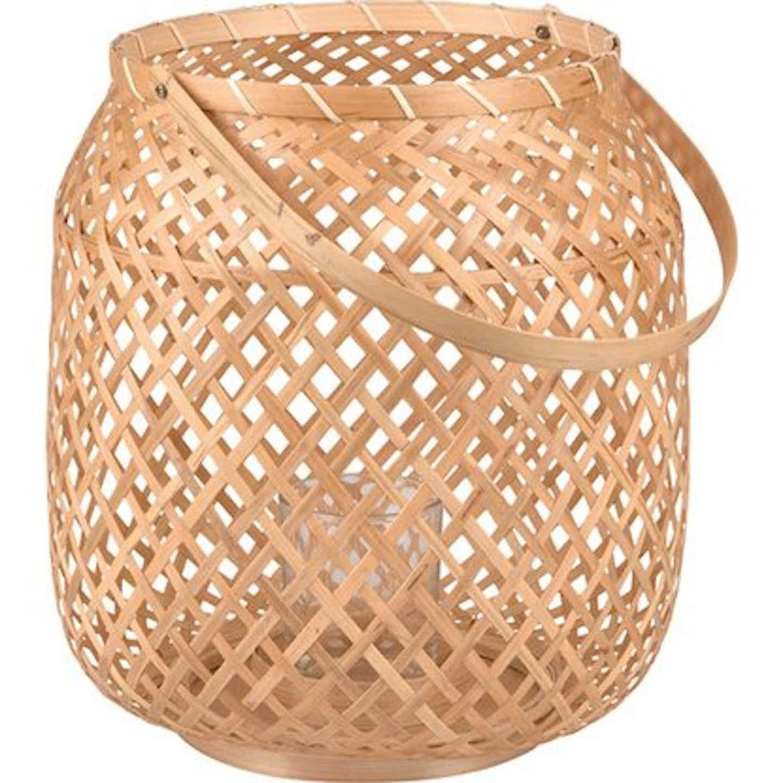 Lampion bambusowy z wkładem 28,5 cm x 25 cm