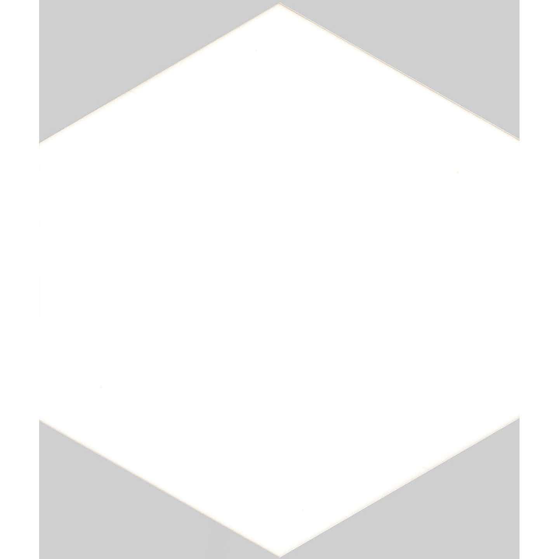 Gres szkliwiony SOLID hex white, 21,5 x 25 cm