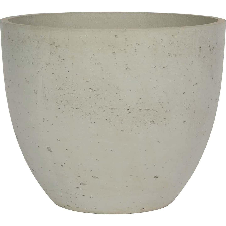 Donica Rimini cement naturalny 18x16cm