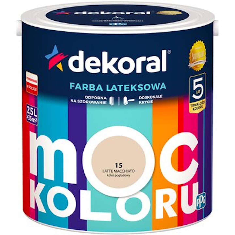 Emulsja Dekoral Moc Koloru latte macchiato 2,5 l