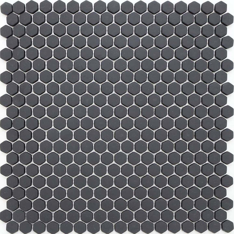 Mozaika szklana HEXAGON mała, czarna, 29 x 29,5 cm