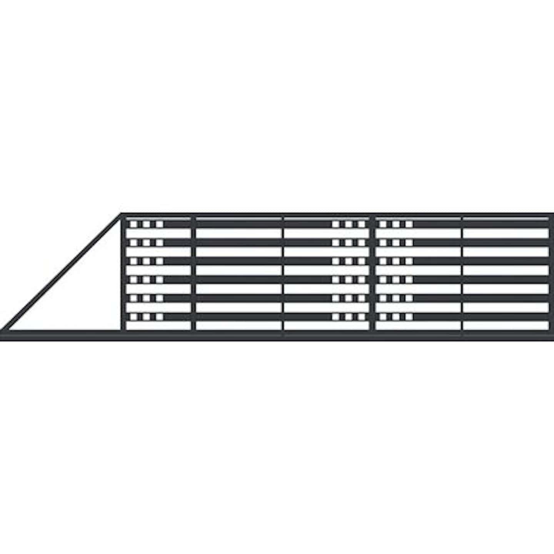 Jarmex Brama Milano II przesuwna lewa z napędem antracyt mat 400x140 cm