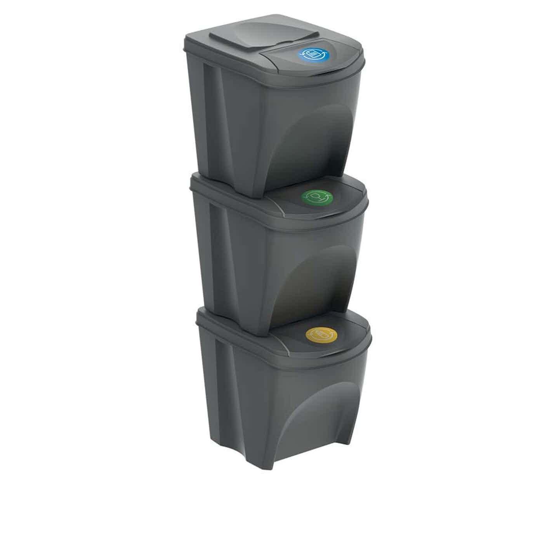 Kosz na śmieci SORTIBOX 3 x 25 l mix