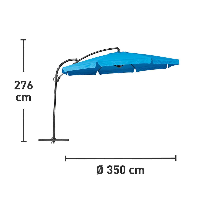 Parasol Cocoa niebieski śr.350cm