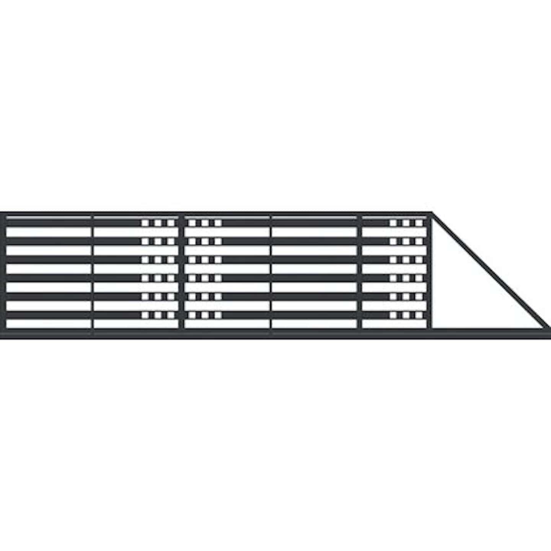 Jarmex Brama Milano II przesuwna prawa z napędem antracyt mat 400x140 cm