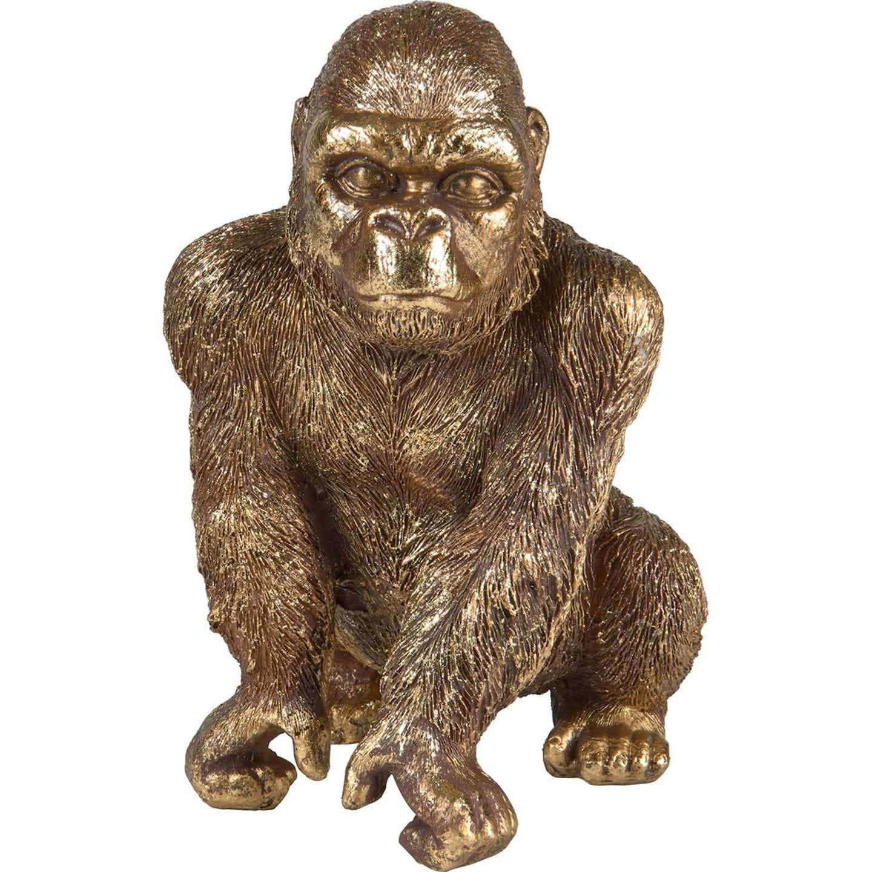 Dekoracja Goryl złoty wys.22cm