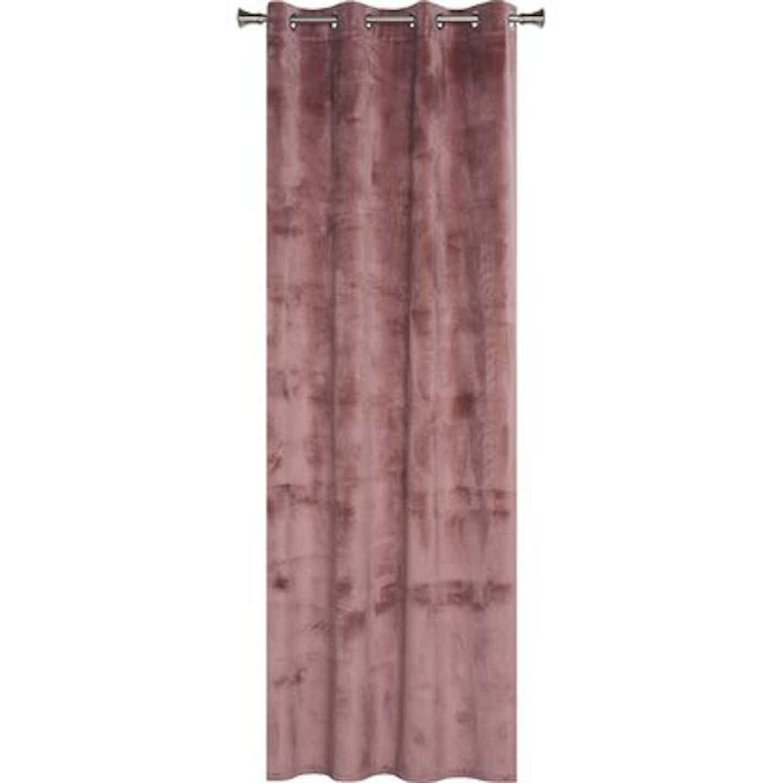 Zasłona VELVET wrzosowa 160 cm x 260 cm na przelotkach
