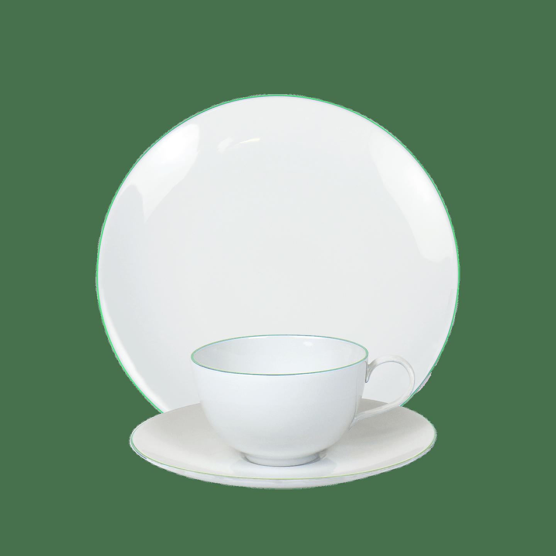 3-teiliges Frühstücks-Set, URBINO, Pistache Rand