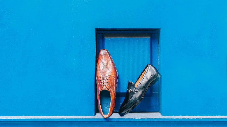 Schuhe aus Vintage - Leder in braun schwarz Melvin & Hamilton
