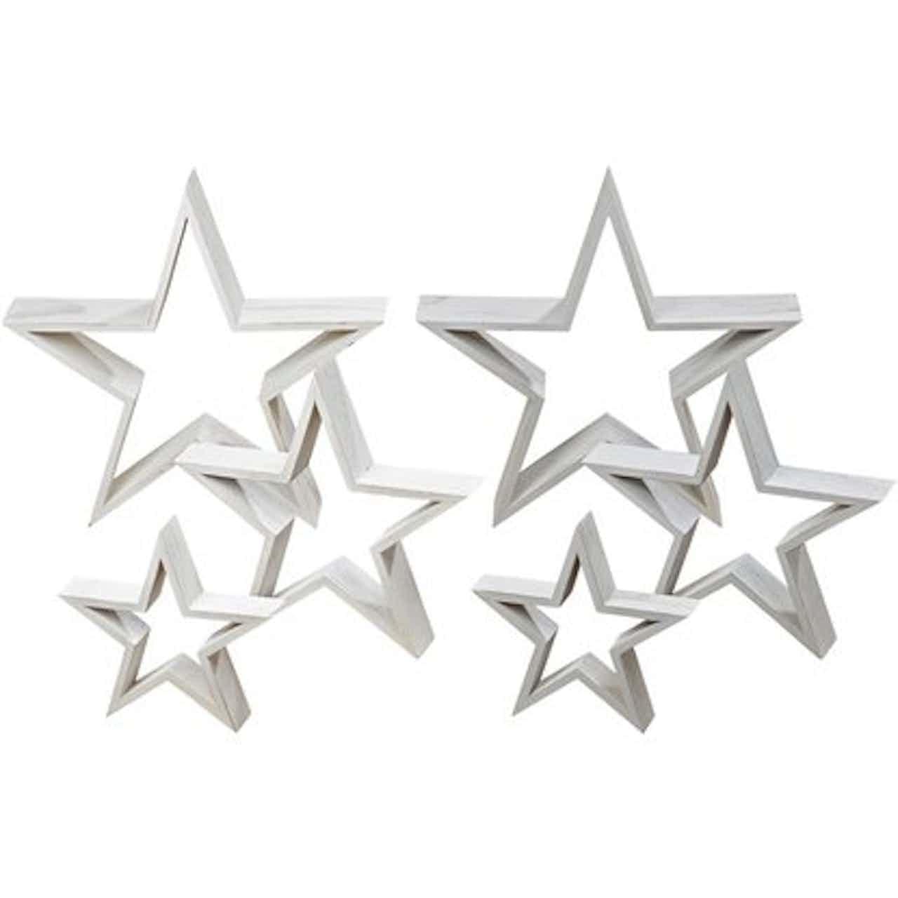 Dekorációs csillag fehér 39 cm