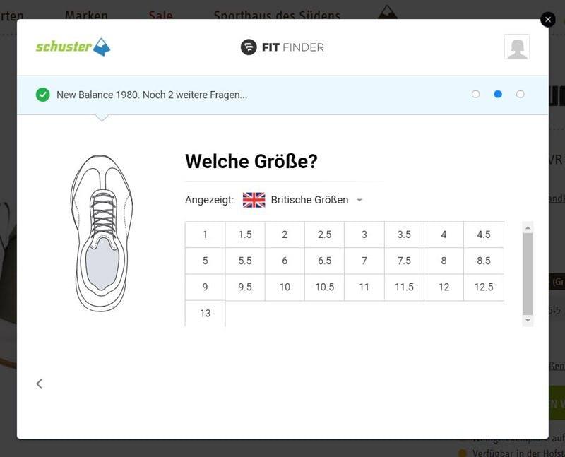 Schuh-Größenberater-Sport-Schuster