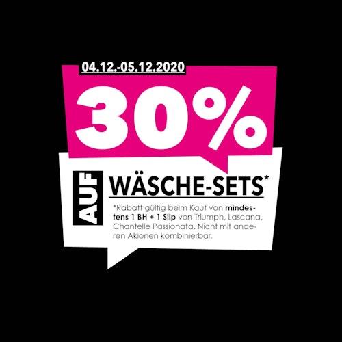 30% Rabatt auf Wäsche-Sets