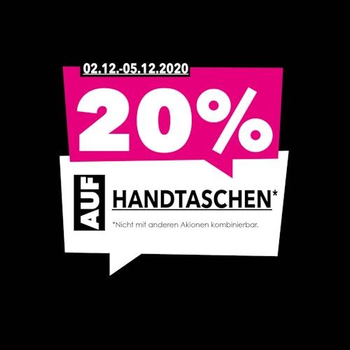 20% Rabatt auf Handtaschen