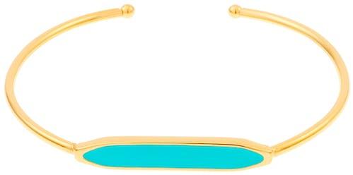 Ce Bracelet MISSISSIPI est en Acier Jaune et Email Bleu