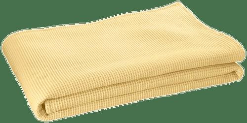 """Wohndecke """"Waffelpique"""" in Gelb"""