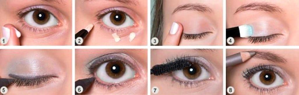 Hervorragend Augen Make-up Schritt für Schritt - Wir zeigen wie es geht BZ78