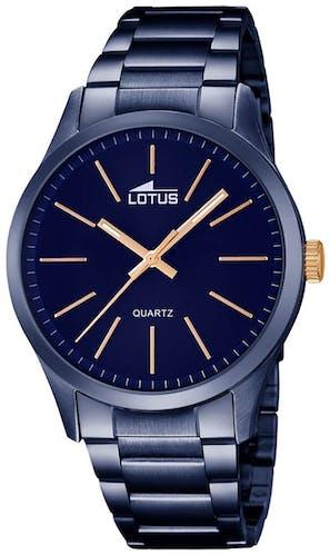 Cette montre LOTUS se compose d'un Boîtier Rond de 42 mm et d'un bracelet en Acier Bleu
