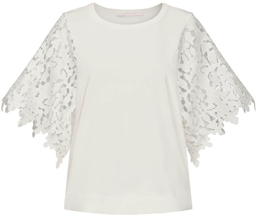 Shirt, T-Shirt, Bluse, Spitze, Lace, White, Weiß, Lodenfrey, See by Chloé