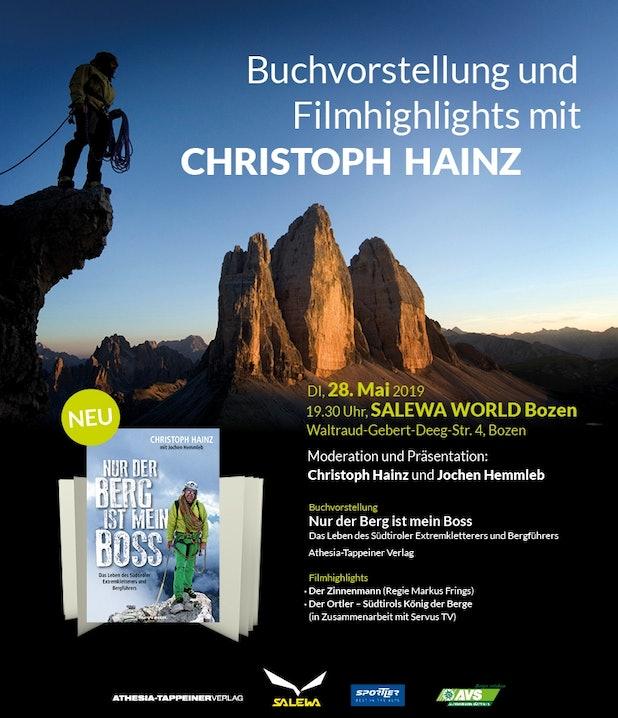 Christoph Hainz Buchvorstellung Salewaund Filmhighlights mit Christoph Hainz