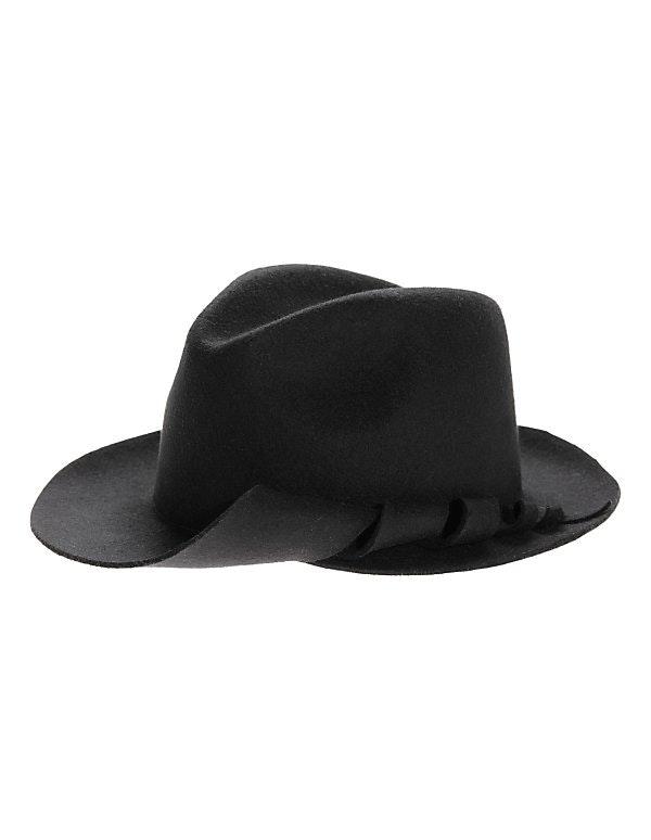 Hut aus weichem Wollfilz