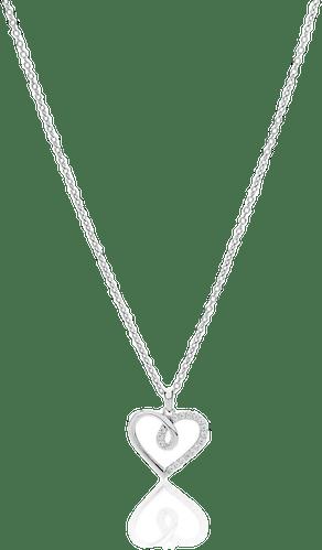 Collier CLEOR Argent 925/1000 Cœur Oxyde Blanc