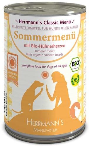 Herrmann's - Nassfutter - Sommermenü mit Bio-Hühnerherzen (getreidefrei)
