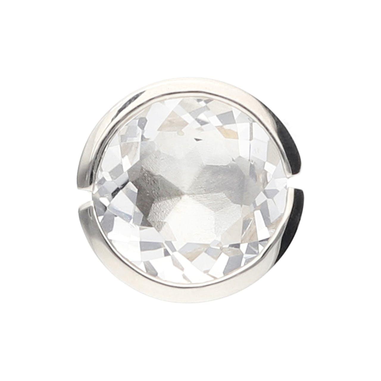 Sonderkopf Spannfassung Bergkristall rund