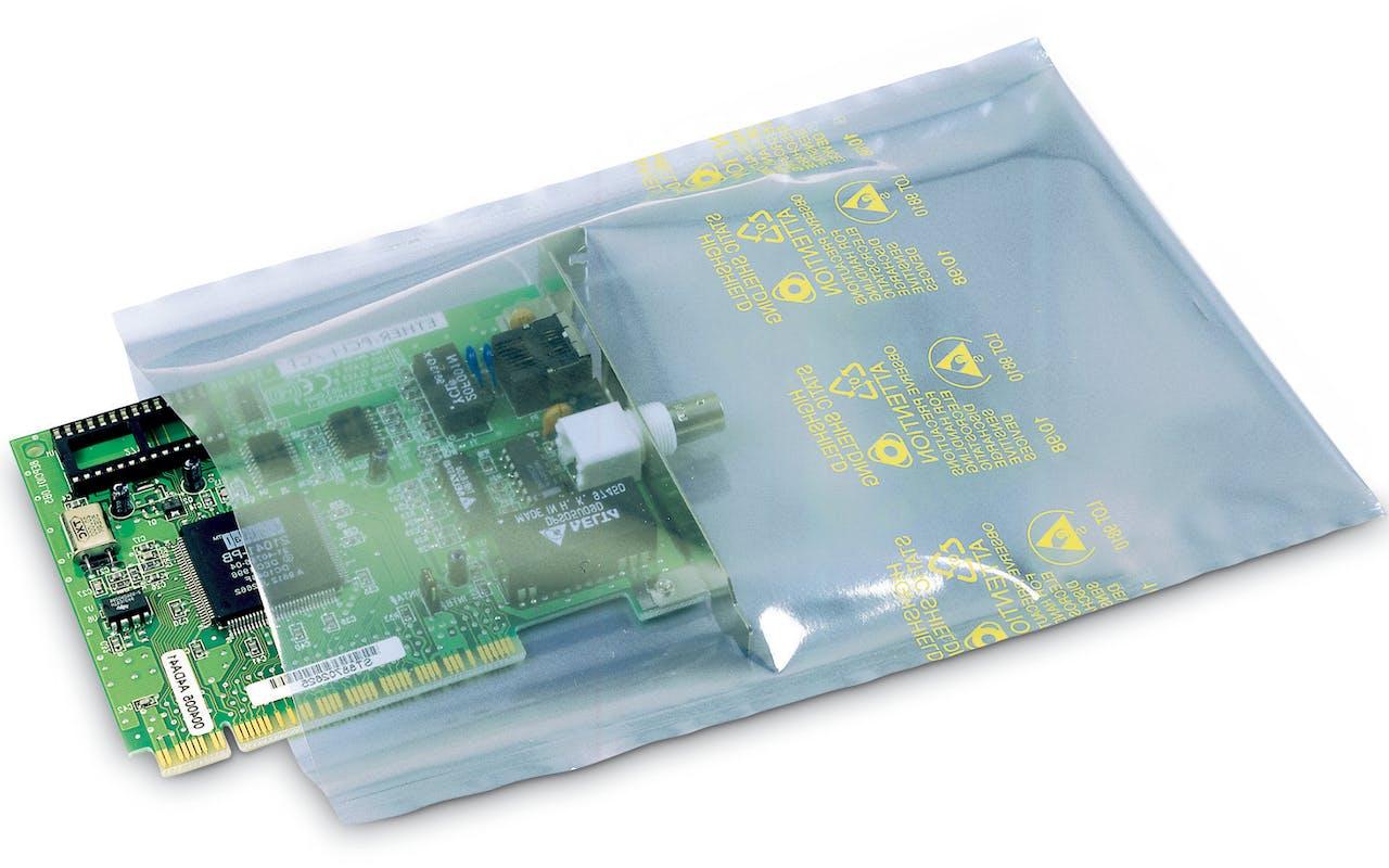 Silberne ESD Beutel mit Festplatte