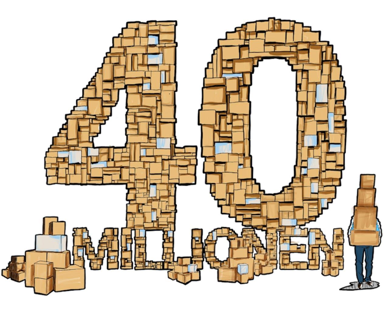 40 millionen pakete