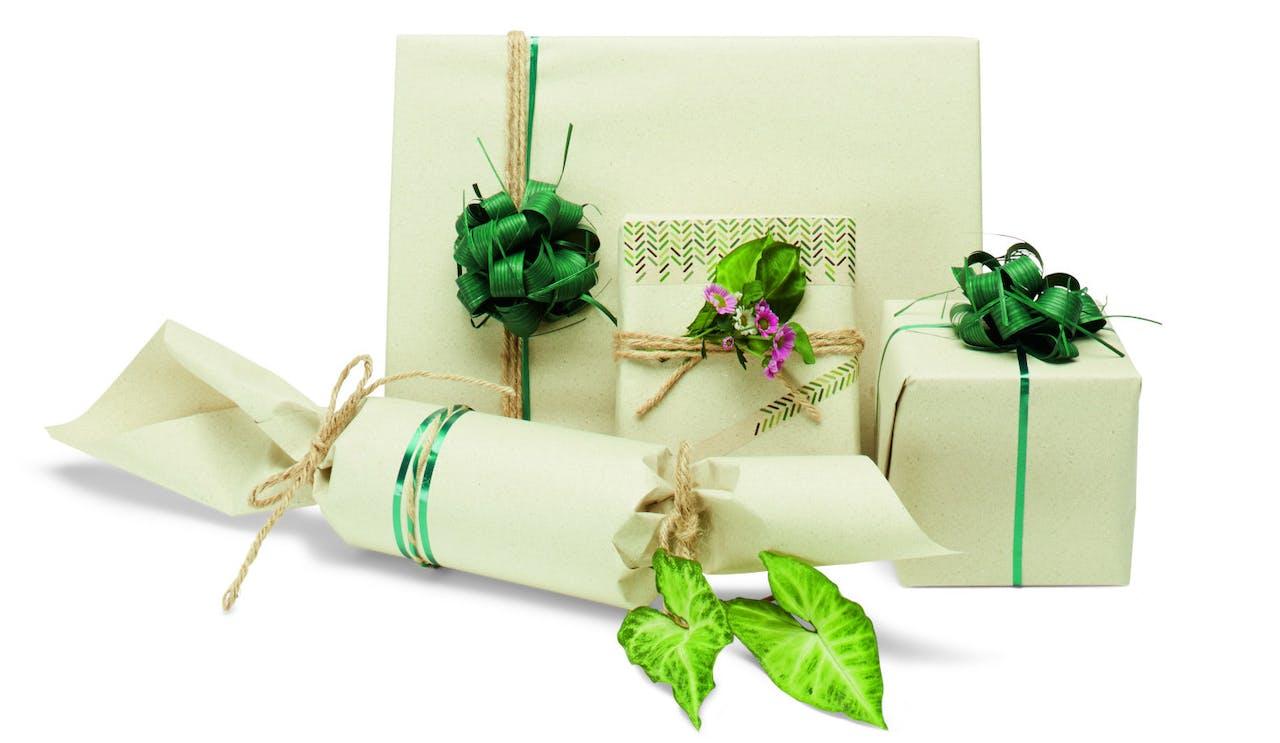 Graspapier Verpackung Geschenke